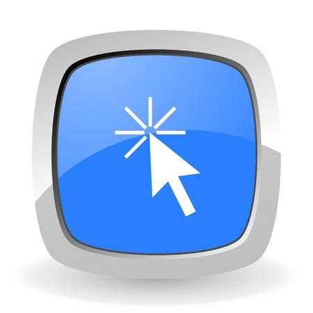 click here: click here icon Stock Photo