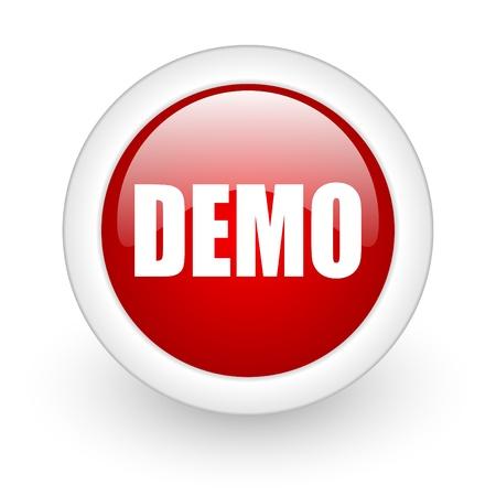 demo icon Stock Photo - 12965846