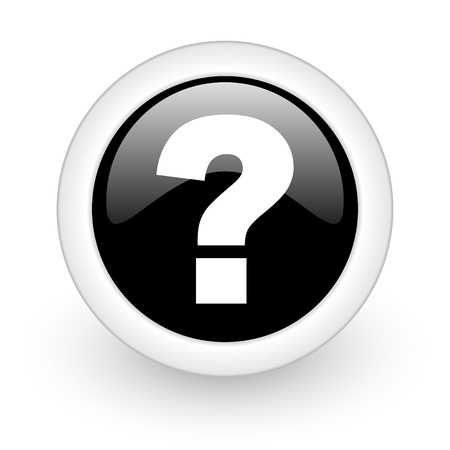 asking question: black round 3d icon
