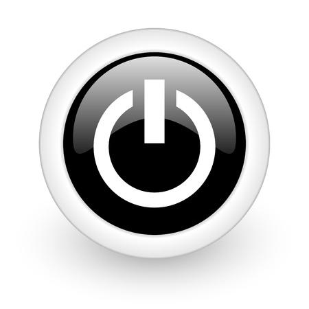 tecla enter: negro y redondo 3d icono