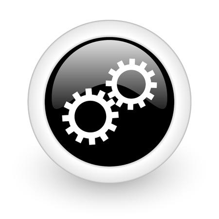 black round 3d icon Stock Photo - 13457623