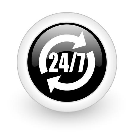 black round 3d icon Stock Photo - 13457621