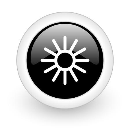 black round 3d icon photo