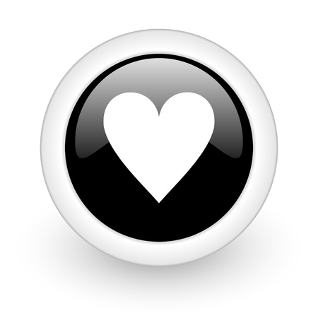black round 3d icon photo