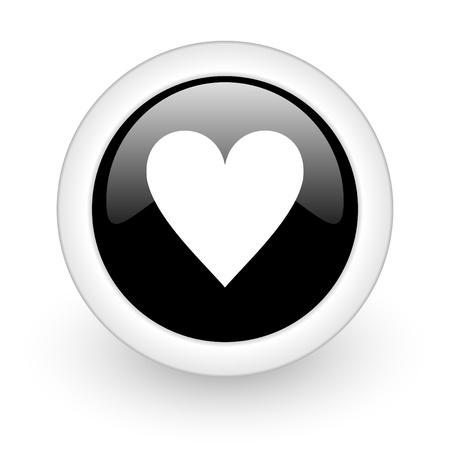 favorite colour: black round 3d icon