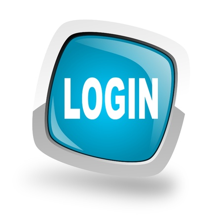 3d button: login icon Stock Photo