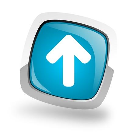 phone button: arow icon Stock Photo