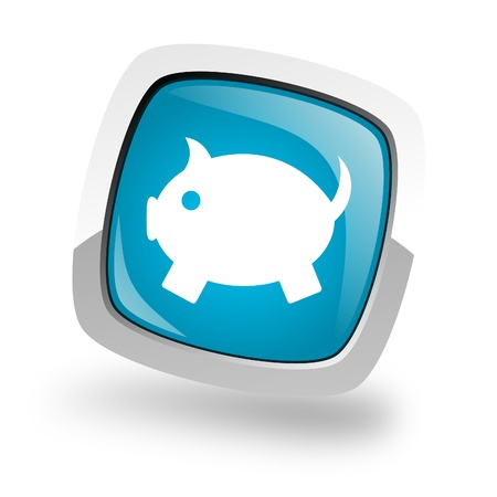 piggy bank icon Stock Photo - 13457668