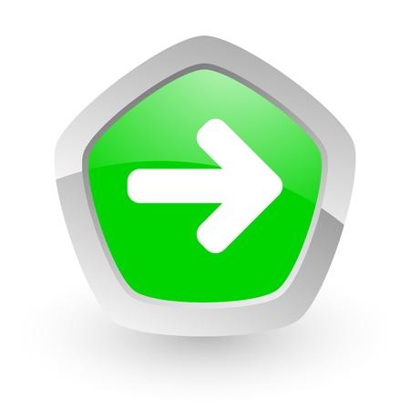 green pentagon icon Stock Photo - 14050148