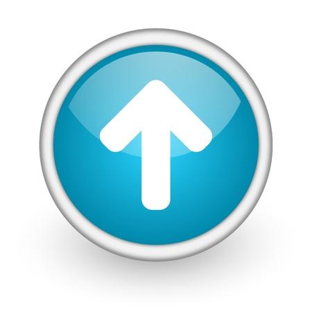 blue round icon Stock Photo - 14050093