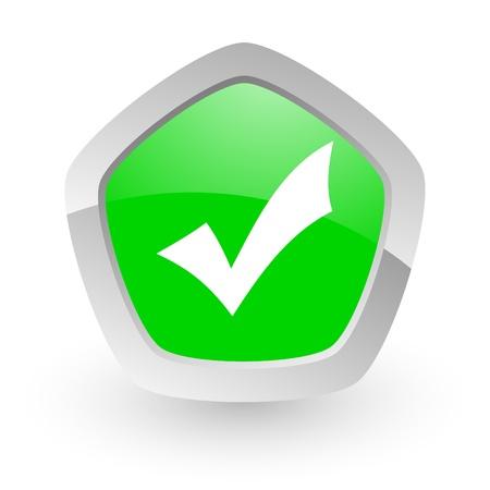 green pantagon icon Stock Photo - 14050134