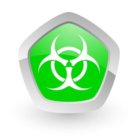 warez: green pantagon icon Stock Photo