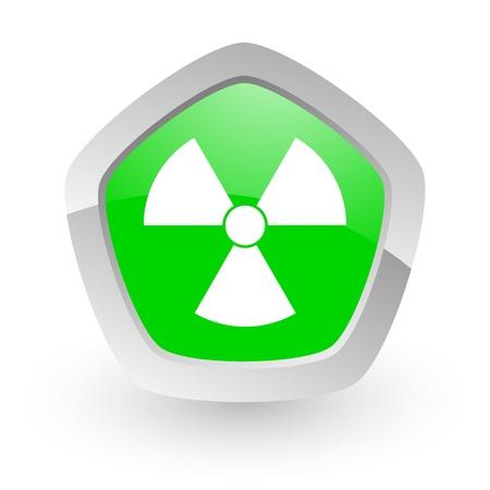 green pantagon icon Stock Photo - 14050143