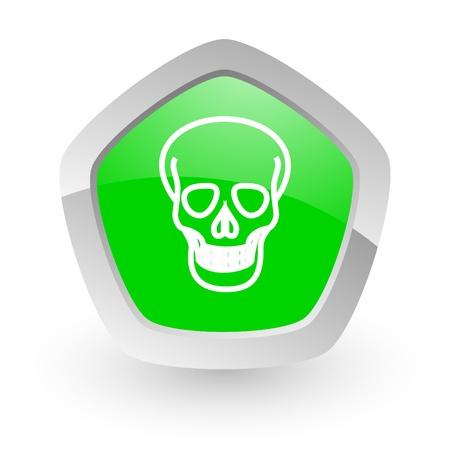 green pantagon icon Stock Photo