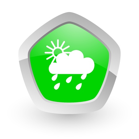 green pantagon icon photo