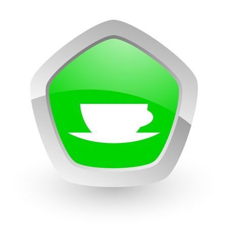 green pantagon icon photo