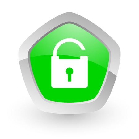 green pantagon icon Stock Photo - 14050157