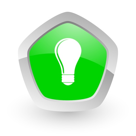 green pantagon icon Stock Photo - 14049133