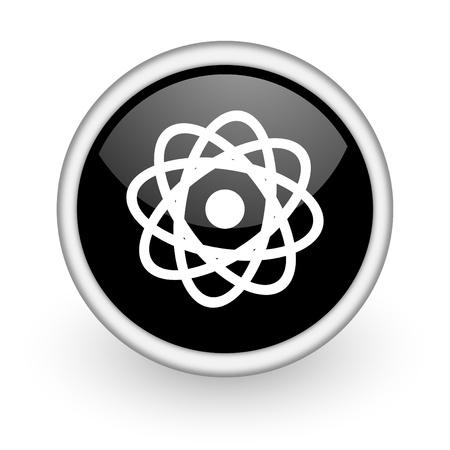 black round icon on white background with shadow Stock Photo - 14358769