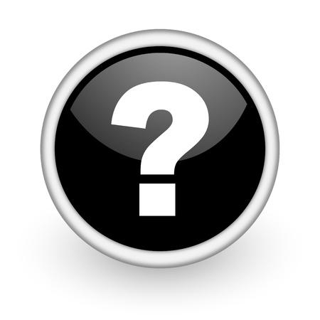 answer question: un'icona circolare nero su sfondo bianco con ombra