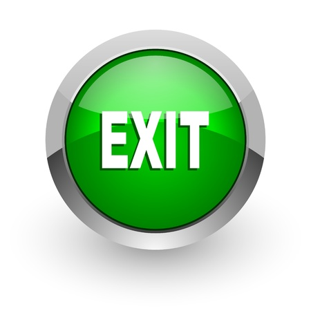 logout: exit icon Stock Photo