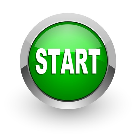 start icon Stock Photo - 14471656