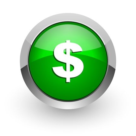 american downloads: dollar icon Stock Photo