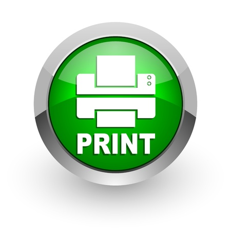 print icon Stock Photo - 14471658
