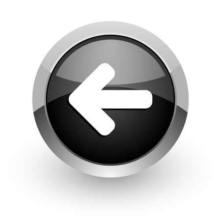 back button: arrow left icon Stock Photo