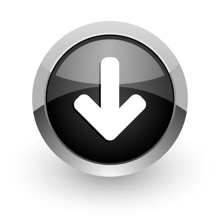 freccia giù: freccia verso il basso l'icona
