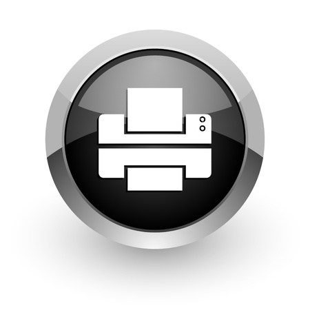 printer icon Stock Photo - 14553311