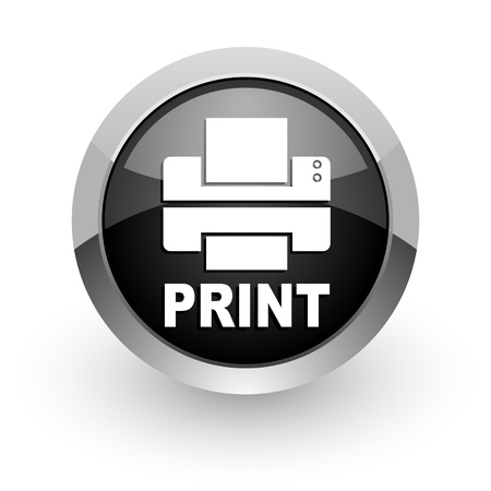 object printing: printer icon Stock Photo