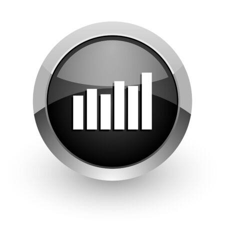 bar graph icon Stock Photo - 14553316