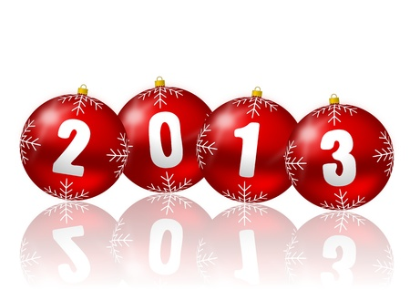 2013 new year illustration with christmas balls illustration