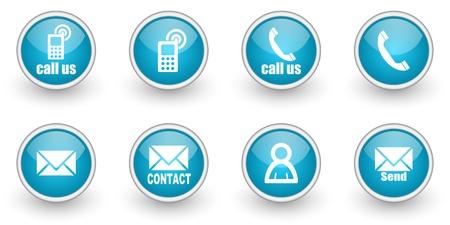 iconos contacto: iconos de contacto establecido