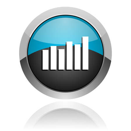 bar graph icon Stock Photo - 14805206