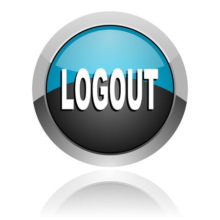 logout icon Stock Photo - 14805334