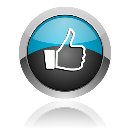 thumb up icon Stock Photo - 14805366