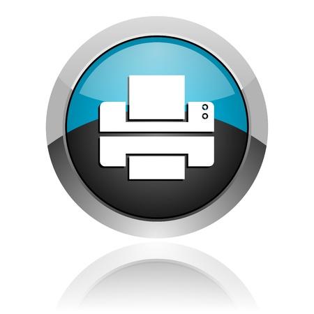 impresora: icono de la impresora Foto de archivo