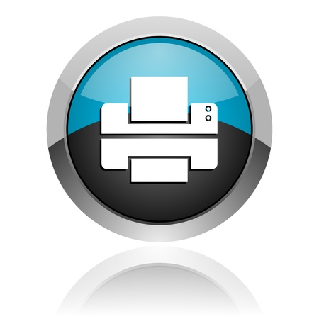 office machine: printer icon Stock Photo