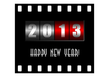 happy new year illustration with counter Stock Illustration - 14873482