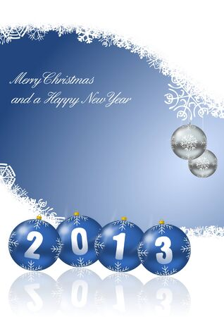 merry christmas and a happy new year 2013 Stock Photo - 14873496