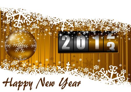 begining: new years illustration with counter