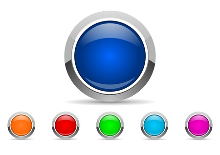 shiny buttons: button set Stock Photo