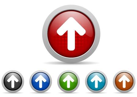 arrows icon set Stock Photo - 15123021
