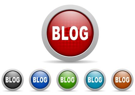 blog icons set Stock Photo - 15123043