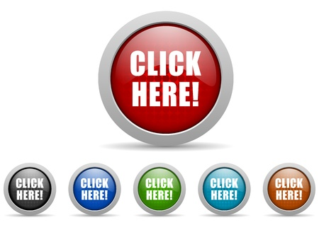 klik: Klik hier icons set Stockfoto