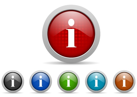 information icons set Stock Photo - 15123033