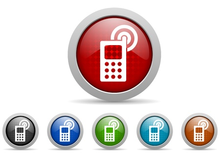 mobile phone icons set Stock Photo - 15123051