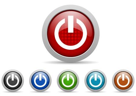 power icons set Stock Photo - 15123044
